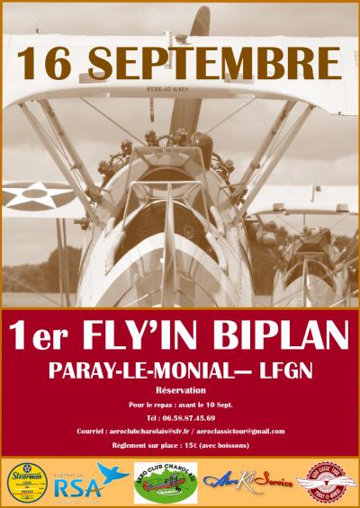 1er Flyin Biplan - Paray-Le-Monial - LFGN
