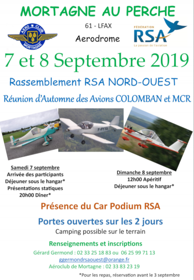 Rassemblement RSA Ouest et Avions Colomban - MCR à Mortagne