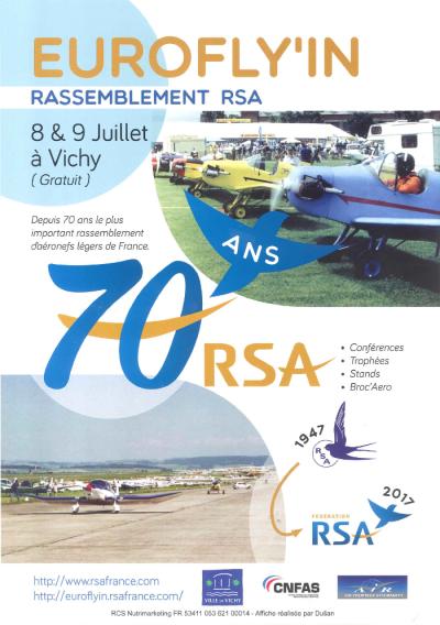 EuroFlyin RSA 2017 : le grand rassemblement RSA fêtera son 70e anniversaire