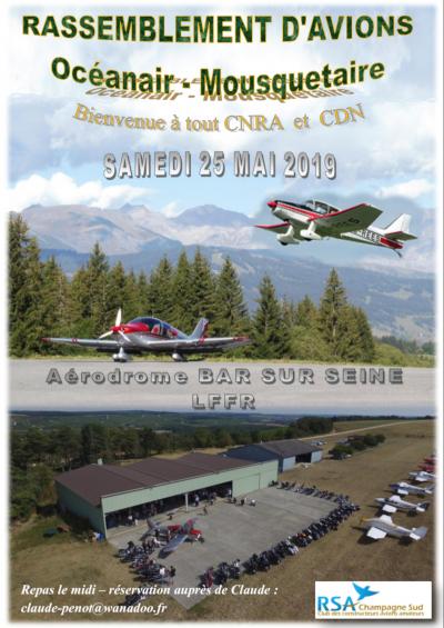 Fly-in Océanair et D 140 Mousquetaire - Bar-sur-Seine (LFFR)