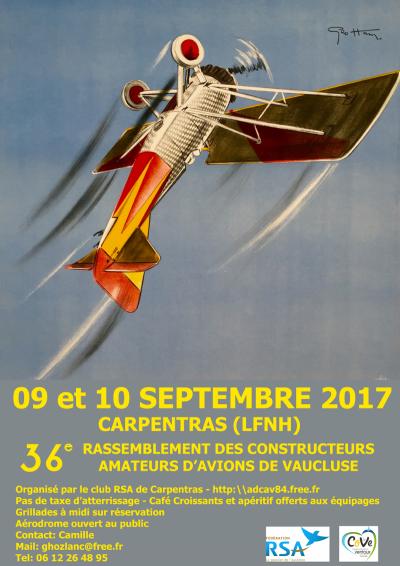 36e Rassemblement des Constructeurs Amateurs d'Avions du Vaucluse