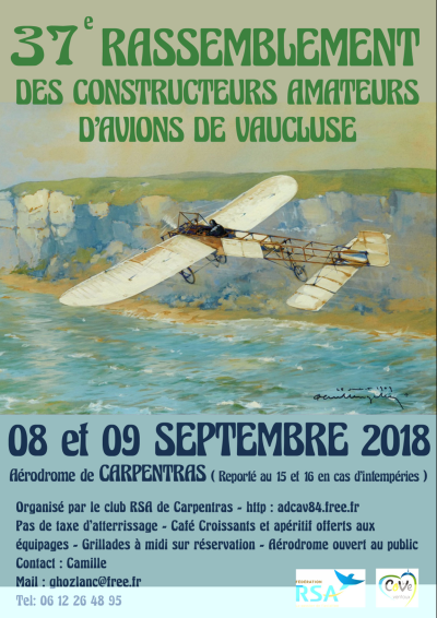 37ème Rassemblement des constructeurs amateurs du Vaucluse
