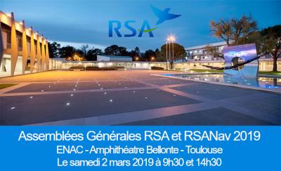 Assemblées Générales RSA et RSANav 2019 à Toulouse