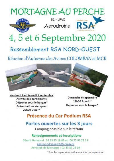 MORTAGNE AU PERCHE - Réunion d'Automne des Avions COLOMBAN et MCR