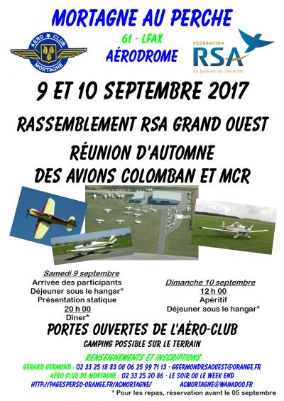 Rassemblement RSA Ouest et avions Colomban - Mortagne au perche
