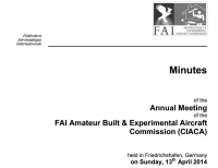 FAI – CIACA : The Minutes of the 2014 Plenary Meeting